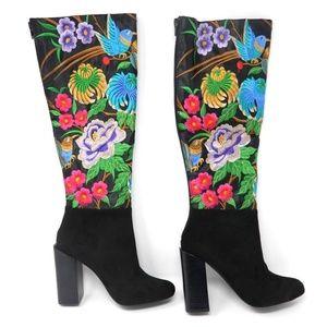 Jeffrey Campbell Boots Fiori Black Size 6